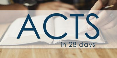 The Book of Acts in 28 days